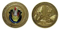 NASA's Shuttle Program 'Mission Complete' Medallion (with space flown metal)